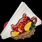 Набор для вышивания бисером по дереву салфетницы Красный чайничек