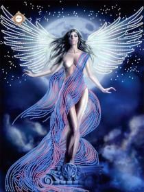 Схема для вышивки бисером на атласе Ангел мироздания
