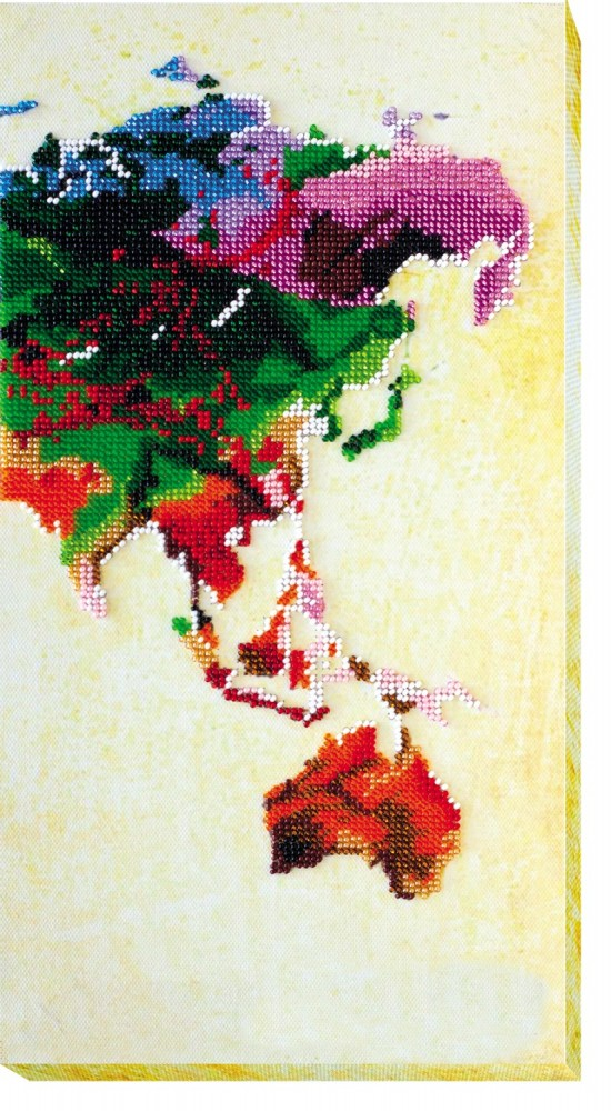 Набор вышивка карта мира