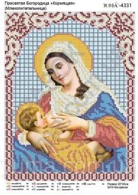 Схема вышивки бисером на атласе Пресвятая Богородица Кормящая (Млекопитательница)