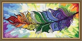 Набор для выкладки алмазной мозаикой Перо Жар-птицы Art Solo АТ3209 - 442.00грн.