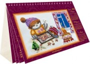 Набор для вышивки бисером Календарь - Совы