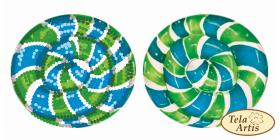Схема для вышивки бисером на ВЕЛЮРЕ Леденец сине-зеленый