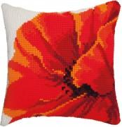 Набор для вышивки подушки крестиком Мак