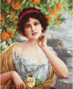 Набор для вышивки крестом Красавица под апельсиновым деревом