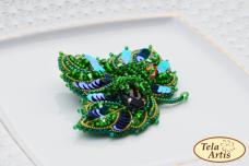 Набор для вышивки броши на ВЕЛЮРЕ Лещина Tela Artis (Тэла Артис) Б-101ТА