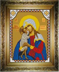 Рисунок на атласе для вышивки бисером Богородица Взыскание Погибших