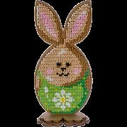 Набор для вышивки по дереву Пасхальный кролик в зеленом