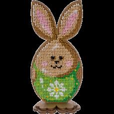 Набор для вышивки по дереву Пасхальный кролик в зеленом Волшебная страна FLK-327