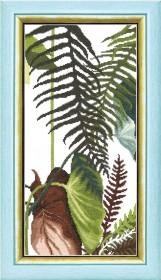 Набор для вышивания крестом Crystal Art Триптих Сквозь жаркие тропики, , 195.00грн., ВТ-169, Cristal Art, Картины из нескольких частей