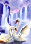 Набор для выкладки алмазной мозаикой Пара лебедей
