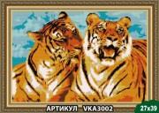 Рисунок на ткани для вышивки бисером Тигры