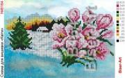Схема вышивки бисером на габардине Весна