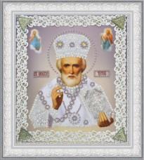 Набор для вышивки бисером Икона Святителя Чудотворца Картины бисером Р-370