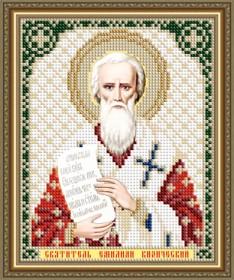 Схема вышивки бисером на авторской канве Святитель Емилиан Кизический