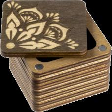 Шкатулка  для бисера крышкой Мандала Волшебная страна FLZB(N)-002