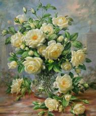 Набор для выкладки алмазной мозаикой Букет белых роз DIAMONDMOSAIC DM-055