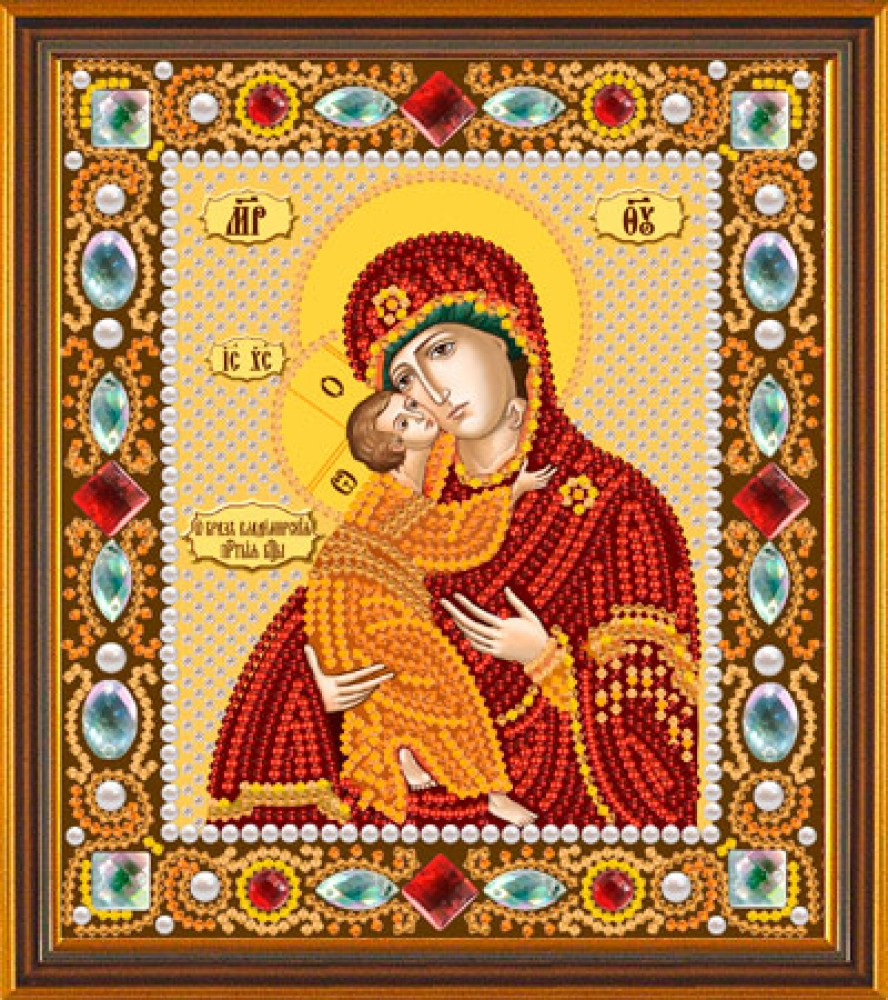 Владимирская богородица вышивка