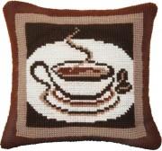 Набор для вышивки подушки крестиком Ароматный кофе