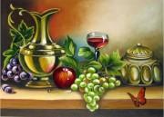 Набор для выкладки алмазной мозаикой Бокал вина и фрукты