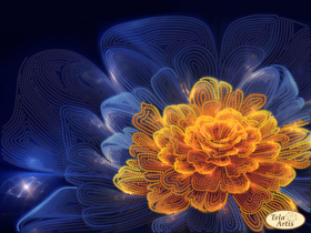 Схема для вышивки бисером на атласе Аларис, , 95.00грн., ТА-383, Tela Artis (Тэла Артис), Цветы