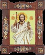 Схема вышивки бисером на ткани Господь Вседержитель