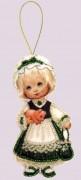 Набор для изготовления куклы из фетра для вышивки бисером Кукла. Ирландия