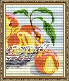 Набор для выкладки алмазной мозаикой В хрустале.Персики Диптих 2, , 280.00грн., АТ5548, Art Solo, Картины из нескольких частей