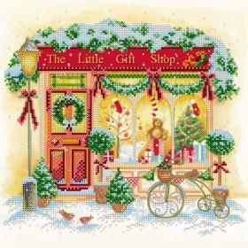 Схема вышивки бисером на холсте Новогодние радости