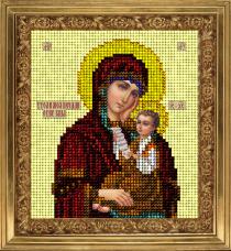 Набор для вышивки ювелирным бисером Икона Утоли мои печали Краса и творчiсть 50114