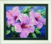 Набор для вышивки бисером Гибискус розовый