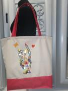 Эко сумка для вышивки бисером Мальвина 11