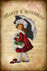 Набор для вышивки ювелирным бисером Рождественские истории 5 Краса и творчiсть 51114