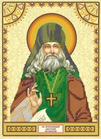 Схема для вышивки бисером на холсте Святой Анатолий
