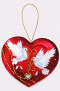 Набор для изготовления игрушки из фетра для вышивки бисером Сердечко