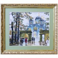 Набор для вышивки крестом на белой канве Владимирский собор Новая Слобода (Нова слобода) РЕ3348-У