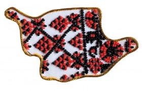 Набор - магнит для вышивки бисером Карта Украины Кировоградкая область Абрис Арт АМК-011 - 56.00грн.