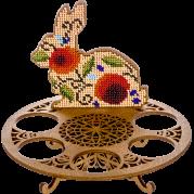 Набор для вышивки бисером по дереву Пасхальный кролик