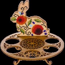 Набор для вышивки бисером по дереву Пасхальный кролик Волшебная страна FLK-262