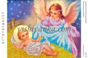Рисунок на габардине для вышивки бисером Янгол охоронець немовлят