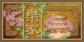 Схема вышивки бисером на габардине Процветание в доме, , 105.00грн., VKA3109, Art Solo, Схемы и наборы для вышивки бисером по Фен шуй