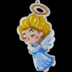 Набор для вышивки бисером на пластиковой основе Ангелочек