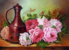 Набор для выкладки алмазной мозаикой Садовые розы Алмазная мозаика DM-237 - 430.00грн.