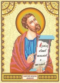 Схема для вышивки бисером на холсте Святой Моисей