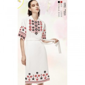 Заготовка женского платья на белом льне Biser-Art Bis6046 белый лен - 498.00грн.