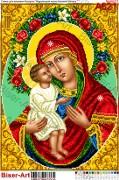 Схема вышивки бисером на габардине Жировицкая икона Божией Матери