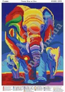 Схема вышивки бисером на атласе Удивительные слоны