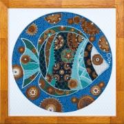 Набор для вышивки бисером Красочная рыбка
