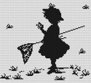 Набор для вышивки крестом Девочка с бабочками