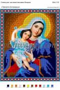 Рисунок на габардине для вышивки бисером Пресвята Богородиця